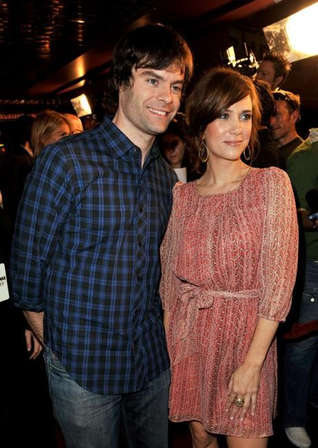 Bill Hader and Kristen Wiig at the red carpet of